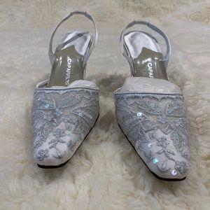 Silver Lace Pump